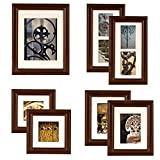 Gallery Perfect 7 Piece Black Wood Photo Frame...