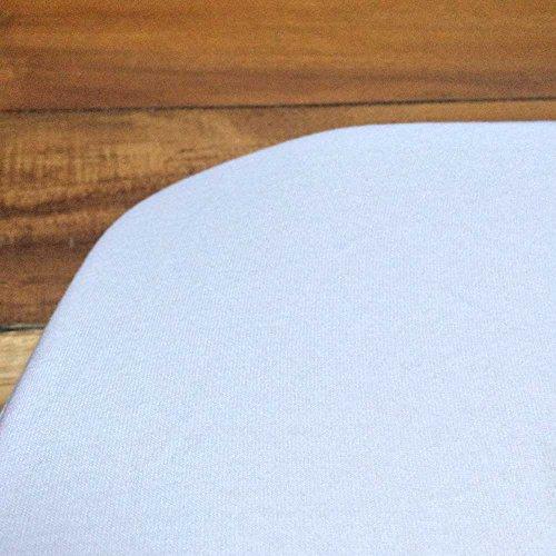 babybay Jersey Spannbetttuch passend für Modell Maxi, Midi, Mini, Boxspring, Trend und Comfort, weiß