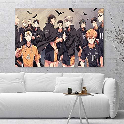 MXIBUN Poster Und Drucke Haikyuu Anime Wandkunst Bilder Leinwand Malerei Geschenk Ohne Rahmen 40 * 60 cm