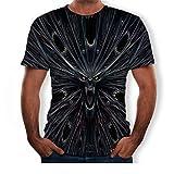 Camisetas Manga Corta Hombre 3D Devil Creative Fashion Impreso Camiseta Europea Y Americana-Una_5XL