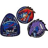 NASA Spacex Crew Dragon F9 DM-2 Mission Patches Morale Tactique Brodé Patchs Couture Appliques Décoratifs