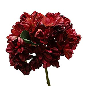 Artificial Flowers Faux Silk Hydrangea Mini Fake Plants Decor for Easter Mothers Day Wedding Home Decoration Rose Red