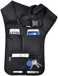 QEES Underarm Concealed Holster for Men Anti-Theft Left Shoulder Bag Shoulder Wallet Multi-Purpose Portable Security Bag Hidden Backpack for Travel/Outdoors SND50