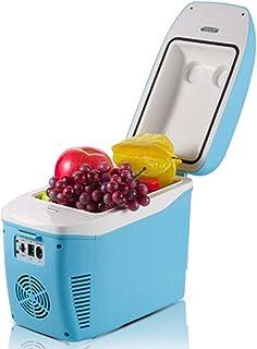 Mini refrigerador Refrigerador de hielo portátil y calefactor eléctrico del cofre de hielo mini calentador de hielo for acampar, pescar, trabajar en un picnic en la playa Recorrido al aire libre de la