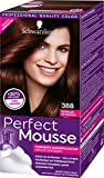 Schwarzkopf Perfect Mousse Permanente Schaumcoloration, 388 Dunkles Rotbraun Stufe 3, 3er Pack (3 x...