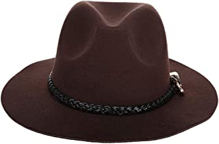 Baoblaze Fedora Hat W/Adjustable Belt For Women Festival Spring Winter Wedding