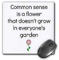 """3Dローズ""""常識は花のグラフィックと言っている花です""""マット仕上げマウスパッド-Mp_221913_1 18x22cm"""