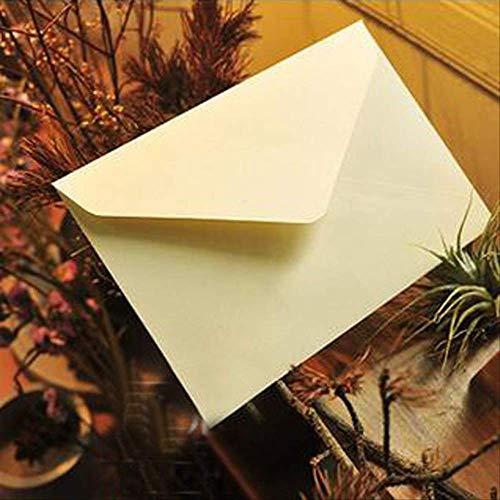 CARDH 10 Teile/Los Vintage Braun Weiß Schwarz Kraft Blank Mini Papier Fenster Umschläge Hochzeitseinladung Umschlag/Geschenk Umschlag 162 * 114Mm 162X114Mm Weiß