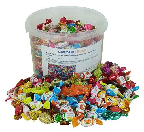 Party Bucket Bonbon Mix für Kindergeburstag, Schatzsuche, Karneval 1er Pack (1 x 1,5 kg)