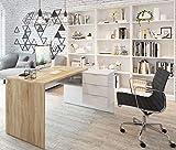 Miroytengo Conjunto despacho Zeus Oficina Mesa Escritorio 3 estanterias Estilo Moderno librerias Salon
