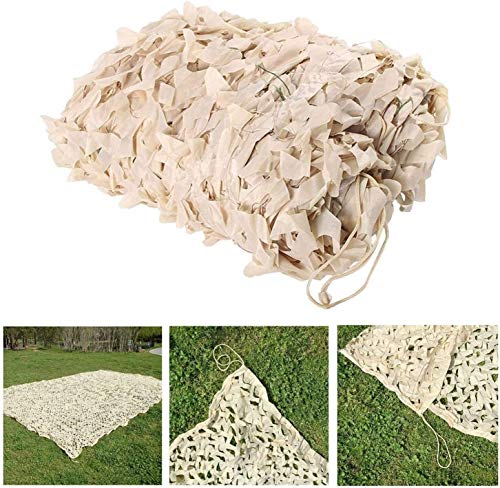 Camo Netting, Lightweight Woodland Camping Camouflage Net Beige Kids Military Camo Net Hunting Shooting Hide Awnings Patios 2m X3m (Size : 4x10m (13 * 32ft))