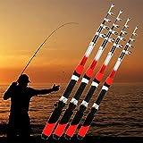 Caña de pesca, 1,8 m, 2,1 m, 2,4 m, 2,7 m, 3 m, portátil, telescópica, fibra de vidrio, caña de pescar de viaje (1,8 m)