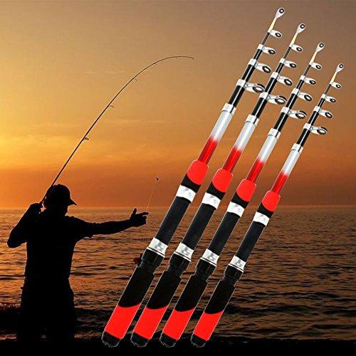 Canne à pêche, 1,8 m, 2,1 m, 2,4 m, 2,7 m, 3 m, canne...