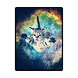HommomH 60' x 80' Soft Blanket Air Conditioning Galaxy Space Cat