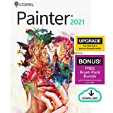 Corel Painter 2021 Upgrade | Digital Painting Software | Illustration, Concept, Photo, and Fine Art | Amazon Exclusive Free Brush Pack Bundle [Mac Download]