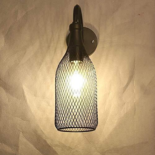 LLLKKK Lámpara de pared industrial para cuarto de baño, E27, diseño de granja, estilo vintage, iluminación de pared, iluminación rústica, para baño, dormitorio, cocina, salón