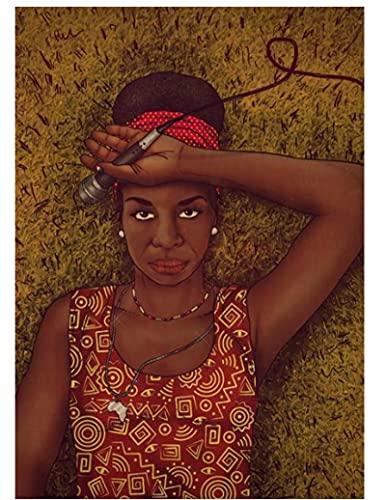 ZYHSB Rompecabezas 1000 Piezas Imagen De Montaje De Madera Póster De Nina Simone Juegos para Adultos Juguetes Educativos Fr186Mj