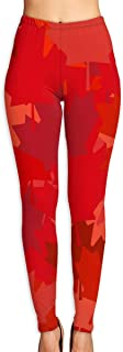 Yoga Pants Womens Canada Red Lead Back Background Vector High Waist Workout Pants