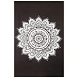 Gokul Handloom Wll Decor Black White Mandala Tapestry Indian Mandala Wall Tapestries Wall Art Bedspreads Home Décor