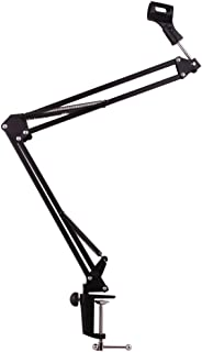 Weymic 35 Universal Microphone Suspension Boom Scissor Arm Stand with Holder for Broadcast Studio Microphone SM57, SM58, SM86, SM87
