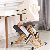 LAL6 Mobiler Kniestuhl, Ergonomischer Kniestuhl, Büro Mit Orthopädischen Rückenschmerzen, Sitzhocker, Stark Verstellbar Mit Griffhaltung,grau