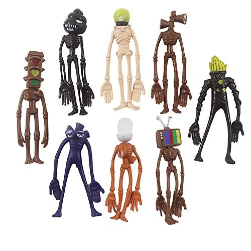 Siren Head PVC Toy Action Figures Sirenhead Figure Horror Models Sculpture Legend Foundation Toys Gifts 8 Pcs