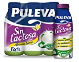 Puleva Mañanas Ligeras Leche sin Lactosa Semidesnatada, 6 x 1L