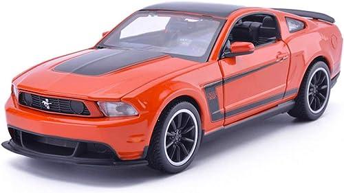 NYDZDM Legierung Modelle Autos 1 24 Ford Mustang boss original Stil druckguss sammler Modell Auto Dekoration Handwerk (Farbe   Orange)