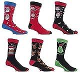 3 Paar Herren Socken Festliches Weihnachts Motiv 39-45 EUR