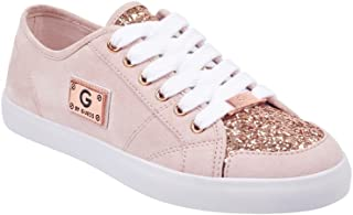 G by GUESS Matrix Women's Lace-Up Glitter Sneakers Shoes