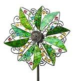 Wind & Weather Solar Leaves Wind Garden Spinner