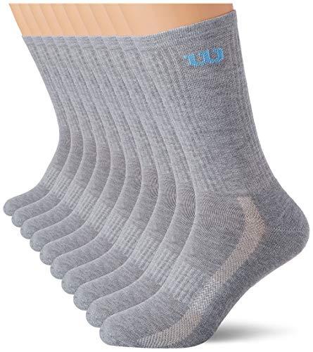 Wilson Herren CREW 8Y51 Socken, Gris, 43-46