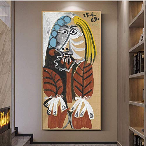 YaShengZhuangShi Druck auf Leinwand 50x100cm ohne Rahmen Pablo Picaso Berühmte Kunst Poster und Drucke Abstrakte Klassische Frau Wandkunst Bilder Wohnkultur
