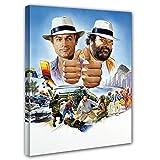 Terence Hill und Bud Spencer Leinwand- Vier Fäuste gegen