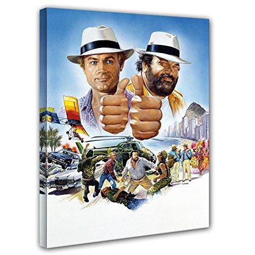 Terence Hill und Bud Spencer Leinwand- Vier Fäuste gegen Rio - Kunstdruck Renato Casaro Edition (60 x 80 cm)