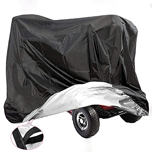 VVHOOY Mobility Scooter Cover,210D?Oxford?Heavy?Duty?Waterproof 4 Wheeled Power Scooter Travel Storage Cover All Weather Outdoor Protection?67 x 24 x 46 inch/170 x 61 x 117 cm