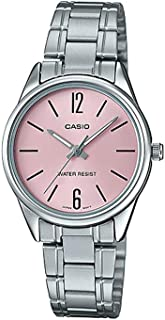 Casio Womens Quartz Watch, Analog Display and Stainless Steel Strap LTP-V005D-4BUDF