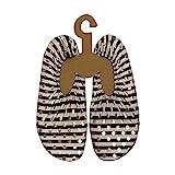 Slipstop - Scarpe da spiaggia da donna, a righe, colore: bianco e nero, con pois dorati, per spiaggia, piscina, surf, yoga, esercizio, antiscivolo, diverse misure, Multicolore (nero/bianco), 37/38 EU