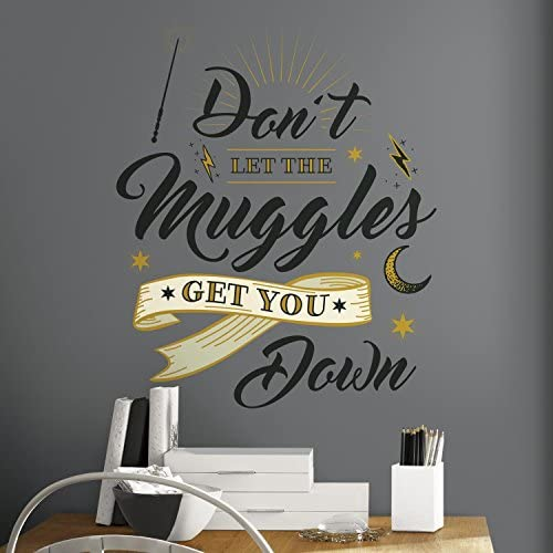 RoomMates Harry Potter Muggles Quote Peel And Stick Giant Wall Decals RMK3608GM product image