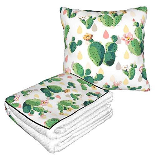 AEMAPE Northeast Romantic Car Pillow Blanket Sofa Blanket, Travel Pillow Blanket, Warm and Thick, Airplane Plush Neck Pillow Thrown for Sleep