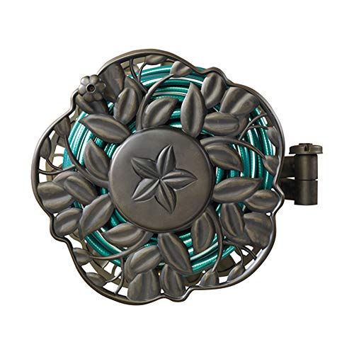 AMES 2397200 NeverLeak Decorative Swivel Reel 100-Foot Hose Capacity