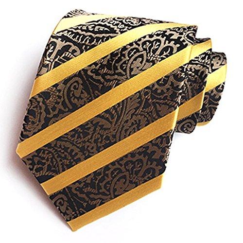ZSRHH-Neckchiefs Halstücher Herren Krawatte Formal Business Gestreifte Bestickte Herren Krawatte 100% Polyester Krawatte Bräutigam Hochzeit Krawatte