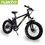 NAKTO 20' Electric Bike Fat Tire Mountain Ebike 300W Electric Bicycle with 36V10A Lithium Battery...