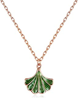 Necklace Jewelry Silver Chic Ginkgo Leaf Pendant Plant Foliage Necklaces For Girls And Women Female Pendant Necklaces Pend...