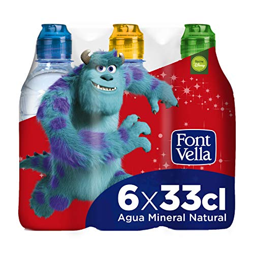 Font Vella Agua Mineral con tapón infantil - Pack 6 x 33cl