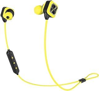 XGCCDAU CCK Bluetooth 4.1 Earphone KS Plus Long-Lasting Dual Battery Design Lightweight Sweat-Resistant Stereo Music Sport Gym Headphone Earbuds (Color : Yellow)