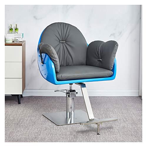 SOAR Sillas de barbero Silla de peluquería Salón de Silla de Peluquero Girar telesilla Corte del salón de Pelo con Cuero Asientos de sillas de Belleza de Pelo Estilo Europeo (Color : C)