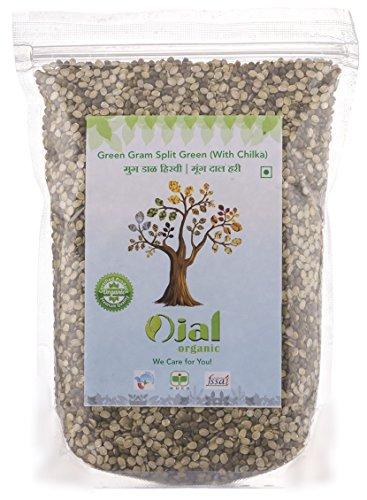 Ojal Organic Moong Dal Green Gram Split with Chilka 1Kg