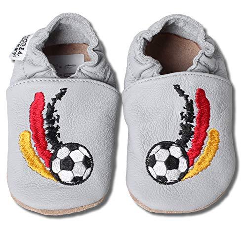 HOBEA-Germany bestickte Krabbelschuhe in verschiedenen Designs, Größe Schuhe:26/27 (30-36 Mon), bestickte Motive:Kickers