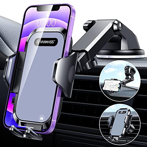 [2021 Upgraded] VANMASS Cell Phone Holder Car Universal Handsfree Car...